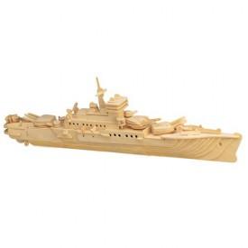 Dřevěné 3D puzzle - dřevěná skládačka - Loď křižník P047