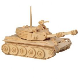 Dřevěné 3D puzzle dřevěná skládačka auta - Tank P050