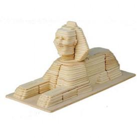 Dřevěné skládačky 3D puzzle slavné budovy - Sfinga P057