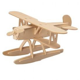 Dřevěné skládačky 3D puzzle letadla - Heinkel HE-51P058