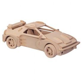 Dřevěné 3D puzzle dřevěná skládačka auta malé Ferrari P065a