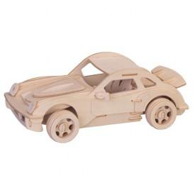 Dřevěné 3D puzzle dřevěná skládačka - Velké Porsche P066