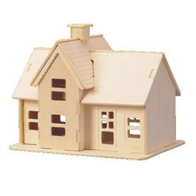 Dřevěné skládačky 3D puzzle slavné budovy - Domeček P069