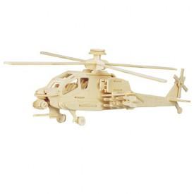 Dřevěné skládačky 3D puzzle letadla - Vrtulník Apache P072