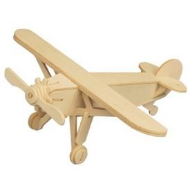 Dřevěné skládačky 3D puzzle letadla - Letadlo P073