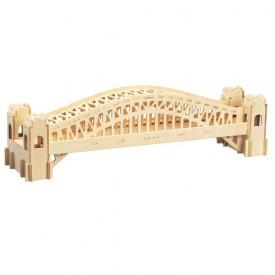 Dřevěné skládačky 3D puzzle slavné budovy - Most Sydney P079