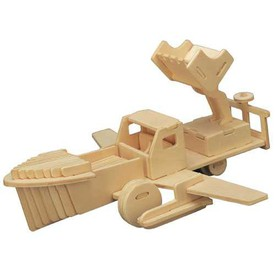 Dřevěné skládačky 3D puzzle letadla - Raketa