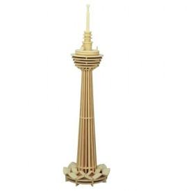 Dřevěné skládačky 3D puzzle - Věž Kuala Lumpur P100