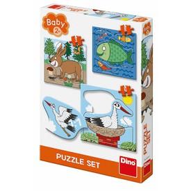 DINO Zvířátka Kde žijí 3-5 BABY Puzzle set