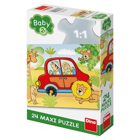 DINO Puzzle Safari MAXI 24 dílků