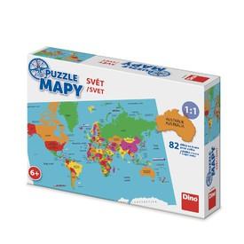 DINO Puzzle Mapa Světa 82 dílků