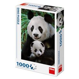 DINO Puzzle Pandí rodina 1000 dílků