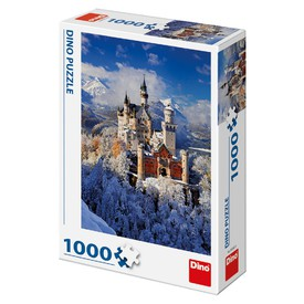 DINO Puzzle Zimní Neuschwanstein 1000 dílků