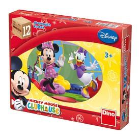 DINO Dřevěné kostky Mickey Mouse 12 ks