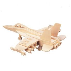Dřevěné skládačky 3D puzzle - Stíhačka F-18 Hornet P104