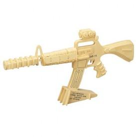 Dřevěné skládačky 3D puzzle - Karabina CAR 15 P109