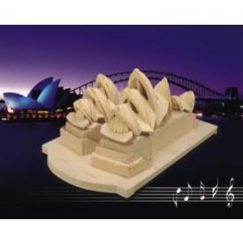 Dřevěné skládačky 3D puzzle - Opera v Sydney P115