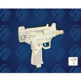 Dřevěné skládačky 3D puzzle - Pistole UZI P118