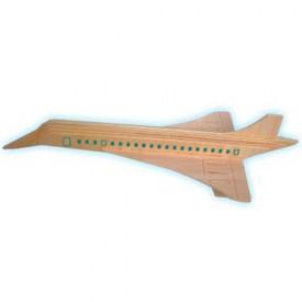 Dřevěné skládačky 3D puzzle letadla - Konkord P121