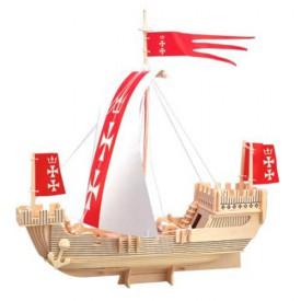 Dřevěné 3D puzzle lodě - dřevěná skládačka - Loď Koga P129