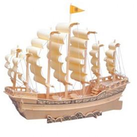Dřevěné 3D puzzle lodě - Loď plachetnice P131