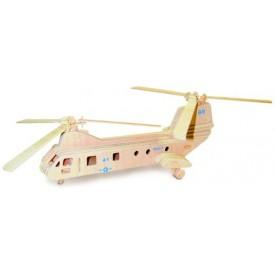 Dřevěné skládačky 3D puzzle - Transportní  vrtulník  P133