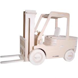 Dřevěné 3D puzzle skládačka auta - Vysokozdvižný vozík P144