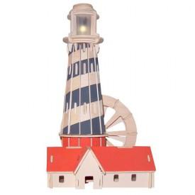 Dřevěné skládačky 3D puzzle slavné budovy - Maják P145