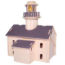Dřevěné skládačky 3D puzzle slavné budovy - Maják P147