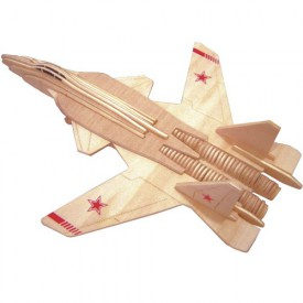 Dřevěné skládačky 3D puzzle - Stíhačka SU-4 Berkut P155