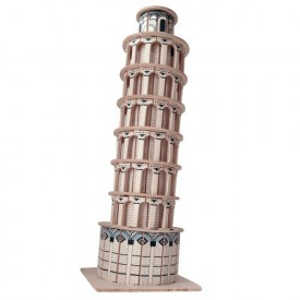 Dřevěné skládačky 3D puzzle slavné budovy Šikmá věž P172