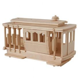 Dřevěné 3D puzzle - dřevěná skládačka auta - Tramvaj P189