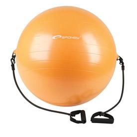 SPOKEY ENERGETIC - Gymnastický míč s expanderem 65 cm včetně pumpičky