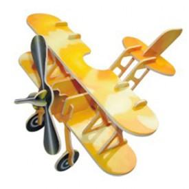 Dřevěné skládačky 3D puzzle - Letadlo dvojplošník PC002