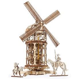 Ugears Dřevěná stavebnice 3D mechanické puzzle Větrný mlýn