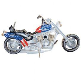 Dřevěné 3D puzzle skládačka Motorka Harley-Davidson I PC019