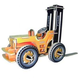 Dřevěné 3D puzzle skládačka auta - Vysokozdvižný vozík PC024