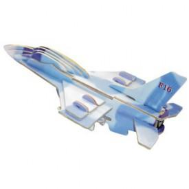 Dřevěné skládačky 3D puzzle letadla - Stíhačka F-16 PC040
