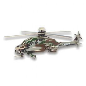 Dřevěné skládačky 3D puzzle letadla - Vrtulník Apache PC072