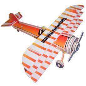 Dřevěné skládačky 3D puzzle letadla - Trojplošník PC074