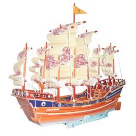 Dřevěné 3D puzzle lodě - dřevěná skládačka Plachetnice PC131