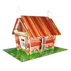 Dřevěné skládačky 3D puzzle slavné budovy - Lidový dům PC141