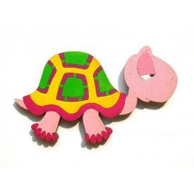 Dřevěné dekorace - dřevěné magnetky - želva