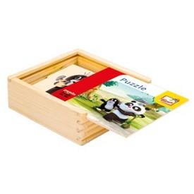 Bino Puzzle přírodní Krtek a Panda