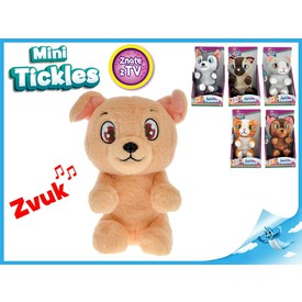 Mini Tickles plyšové zvířátko1ks kočička rezavá