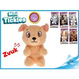 Mini Tickles plyšové zvířátko1ks kočička šedá
