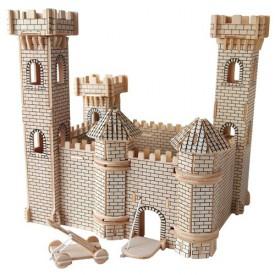 Dřevěné skládačky 3D puzzle slavné budovy - Hrad II - PH025