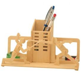 Dřevěné skládačky 3D puzzle - Stojánek na tužky Šerm S001