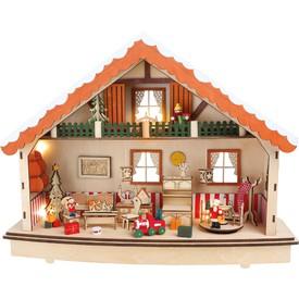 Small Foot by Legler Dřevěný dekorační svítící domeček