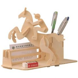 Dřevěné skládačky 3D puzzle - Stojánek na tužky Dostihy S010